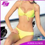 2014 new style yellow bikini swimwear from china